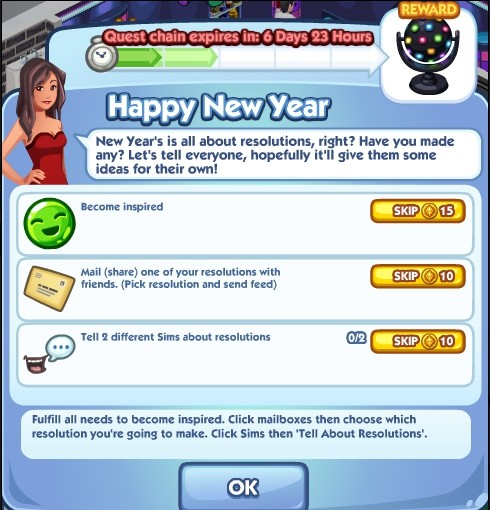 The Sims Social Happy New Year 2