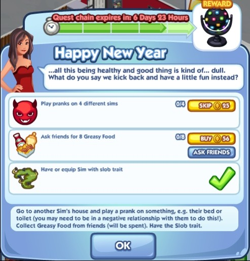 The Sims Social Happy New Year 5