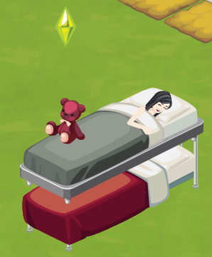 Sims Social bed action