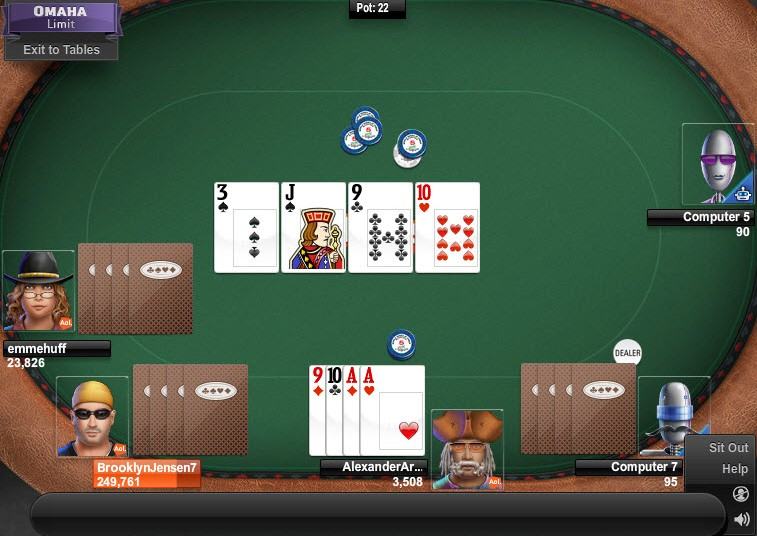 poker omaha game of the day