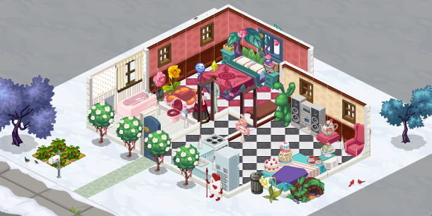 The Sims Social Bella's House Alice in Wonderland