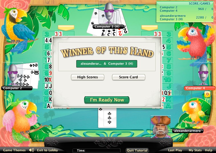canasta game of the day