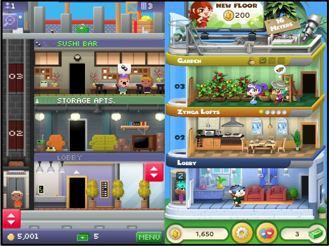 Tiny Tower and Dream Heights
