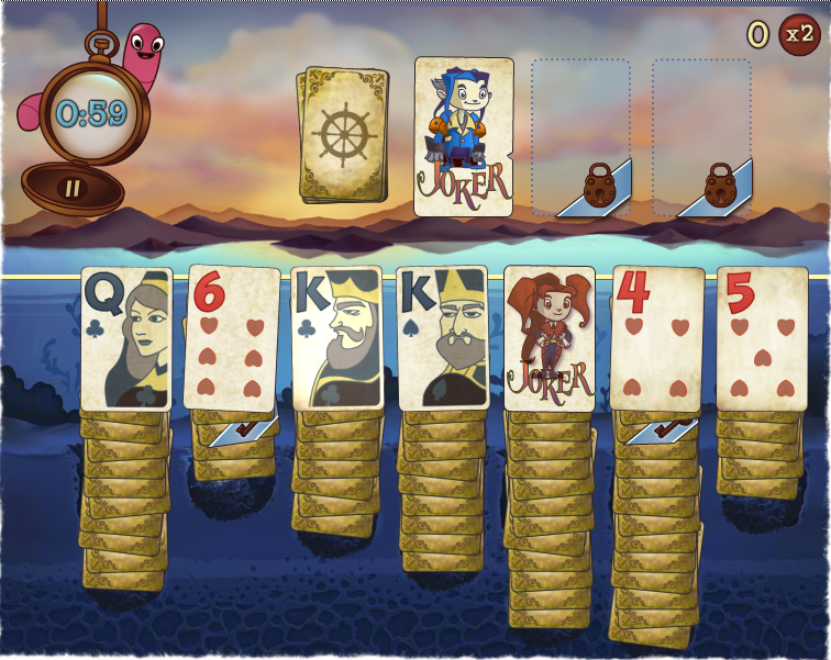 Solitaire Blitz gameplay