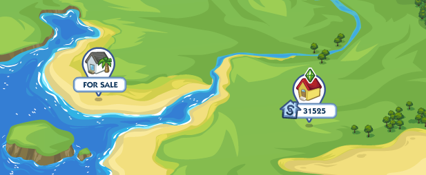 The Sims Social Locations Map