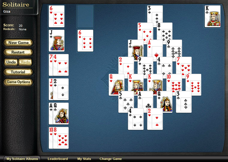 solitaire pyramid giza game of the day