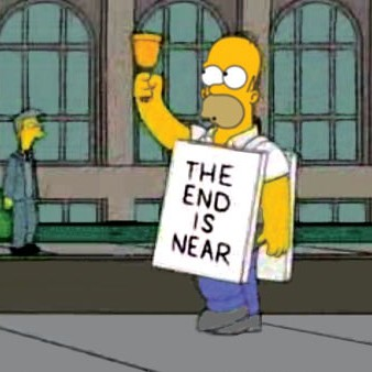 Homer Simpson The End is Near