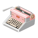 The Sims Social Amour Edition Typewriter
