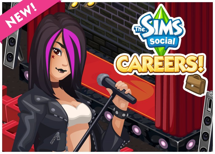 The Sims Social Careers Rock Star