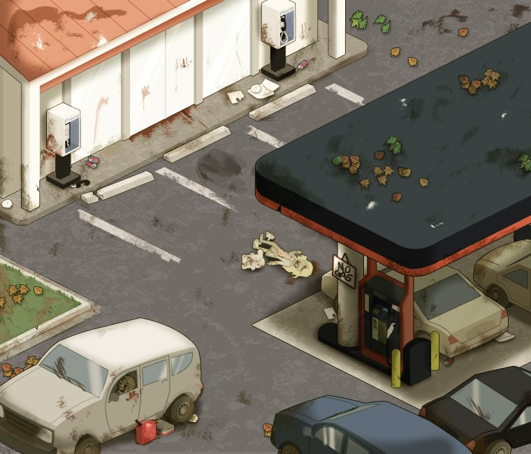 The Walking Dead Social Game gas station