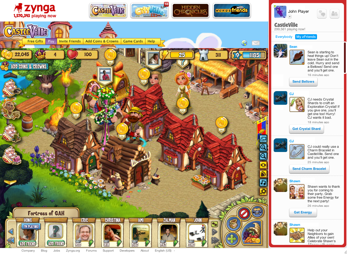 zynga games online for free
