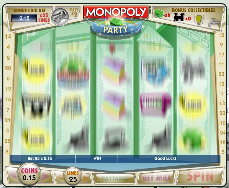 Lucky Gem Casino Monopoly Party