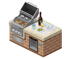 The Sims Social ReLux Grill