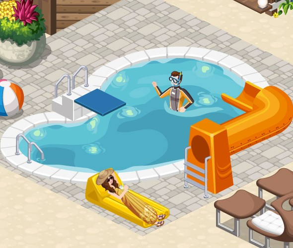 The Sims Social Swimming Pool