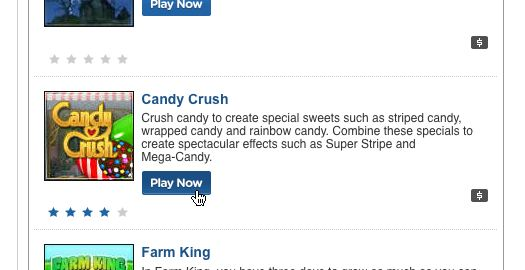 candy crush play now button