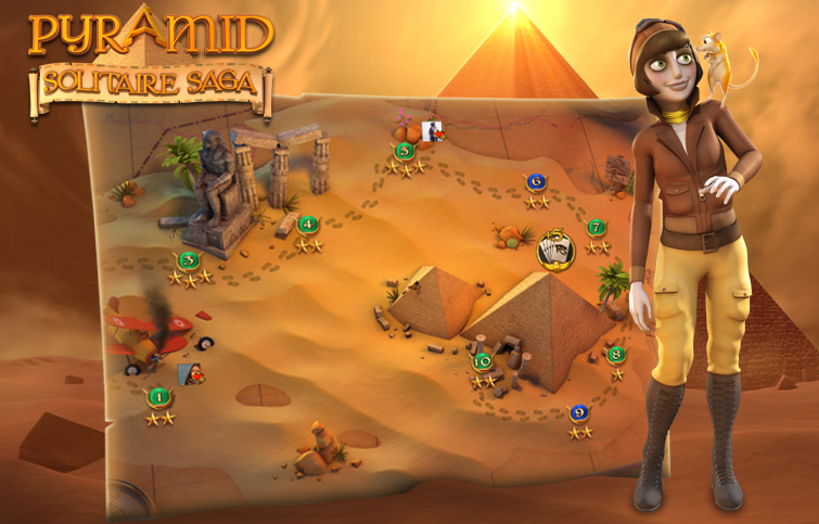 Pyramid Solitaire Saga screens