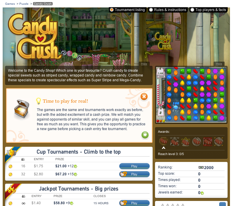 candy crush pay version