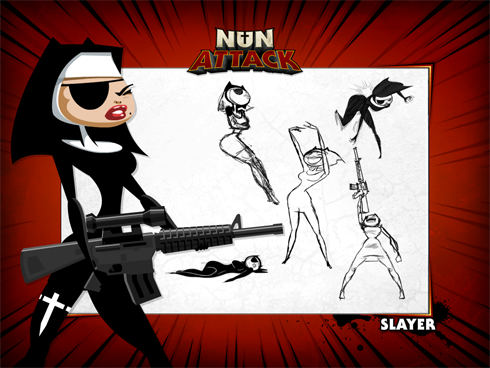 Nun Attack screens