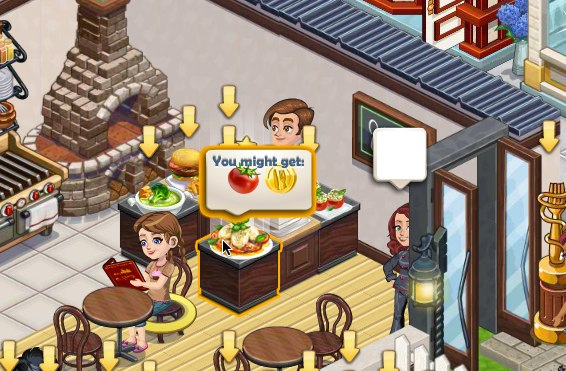 chefville earn ingredients by eating dishes cheats