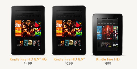 amazon kindle hd