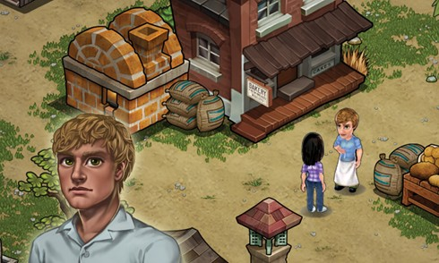The Hunger Games Adventures iPad screens