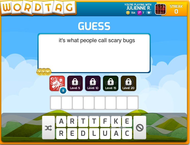 WordTag: Guess words with friends 120 characters at a time - AOL Games