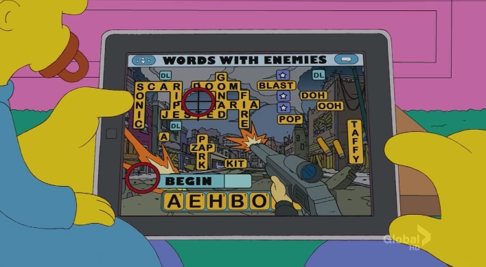 The Simpsons Words With Friends