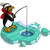 Ice Fishing Penguin