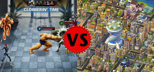 SimCity Social versus Marvel Avengers Alliance