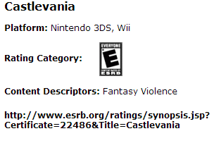 Castlevania Rating Image