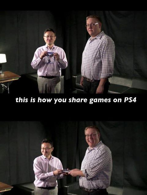 PS4 sharing meme