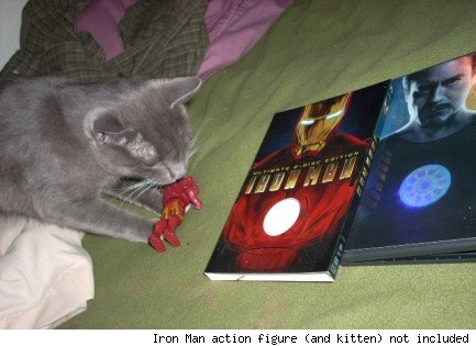 action figure (and kitten) not included