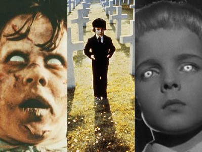 Left to right: 'The Exorcist' (1973), 'The Omen' (1976), 'Village of the Damned' (1960)