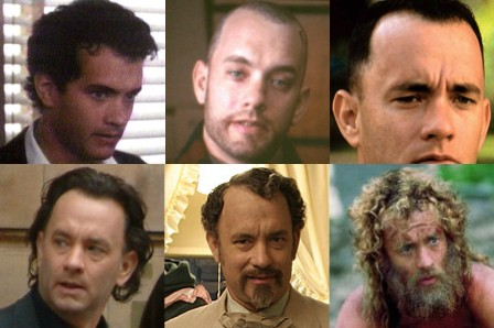 Clockwise, from upper left: Splash, Philadelphia, Forrest Gump, Castaway, The Ladykillers, The Da Vinci Code