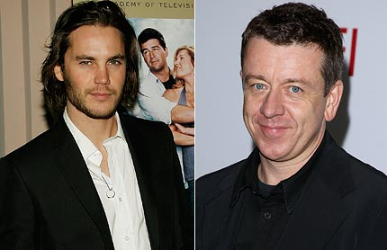 Taylor Kitsch and Peter Morgan