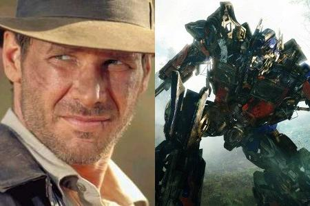 Harrison Ford as Indiana Jones; ??? in 'Transformers: Revenge of the Fallen'