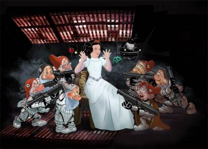 'Snow White and the Seven Stormtroopers' (thumper-011 at deviantart.org)