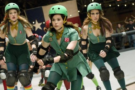 Drew Barrymore, Ellen Page, and Kristen Wiig in 'Whip It' (20th Century Fox)