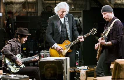 Jack White, Jimmy Page and The Edge in It Might Get Loud