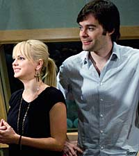 Anna Faris and Bill Hader