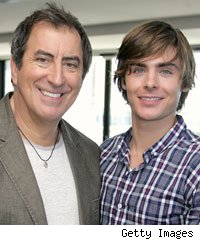 Kenny Ortega and Zac Efron