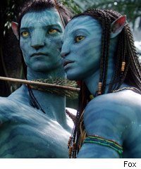 sam worthington zoe saldana in avatar