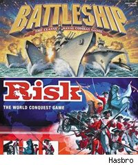 Battleship and Risk board games
