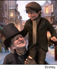 Jim Carrey in Disney's A Christmas Carol