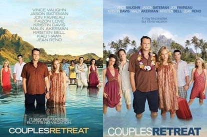 US Couples Retreat poster and UK Couples Retreat poster
