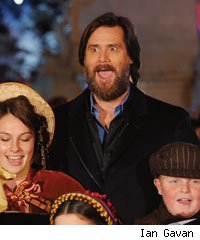 Jim Carrey at the London premiere for A Christmas Carol