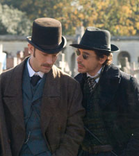 Jude Law and Robert Downey Jr in Sherlock Holmes