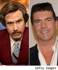 Will Ferrell and Simon Cowell