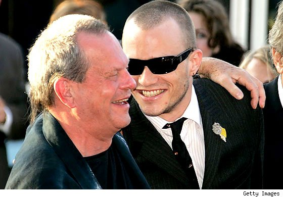 Director Terry Gilliam and the late Heath Ledger