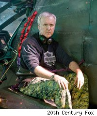 James Cameron on the set of Avatar